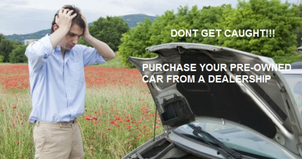 buying a pre-owned car from a private seller